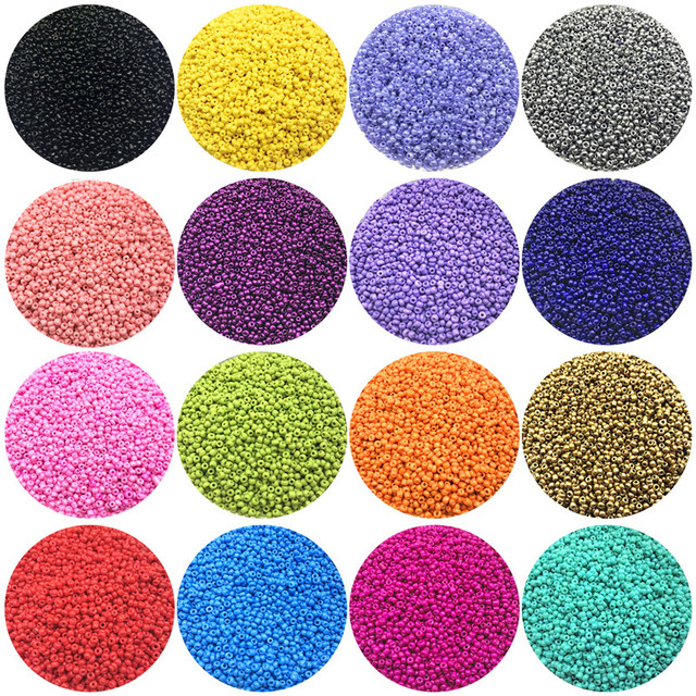 1000pcs/Lot 2mm Charm Czech Glass Seed Beads DIY Bracelet Necklace Beads For Jewelry Making Accessories