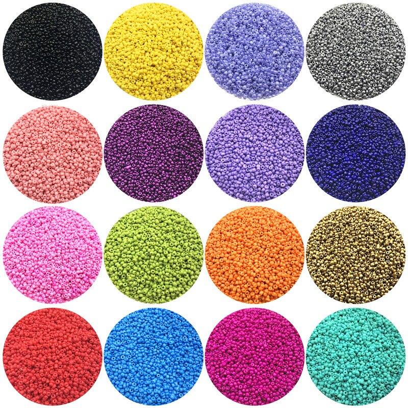 Contas de semente de vidro checo 1000 pçs/lote 2mm, pingente, pulseira diy, colar, contas para fazer jóias, acessórios