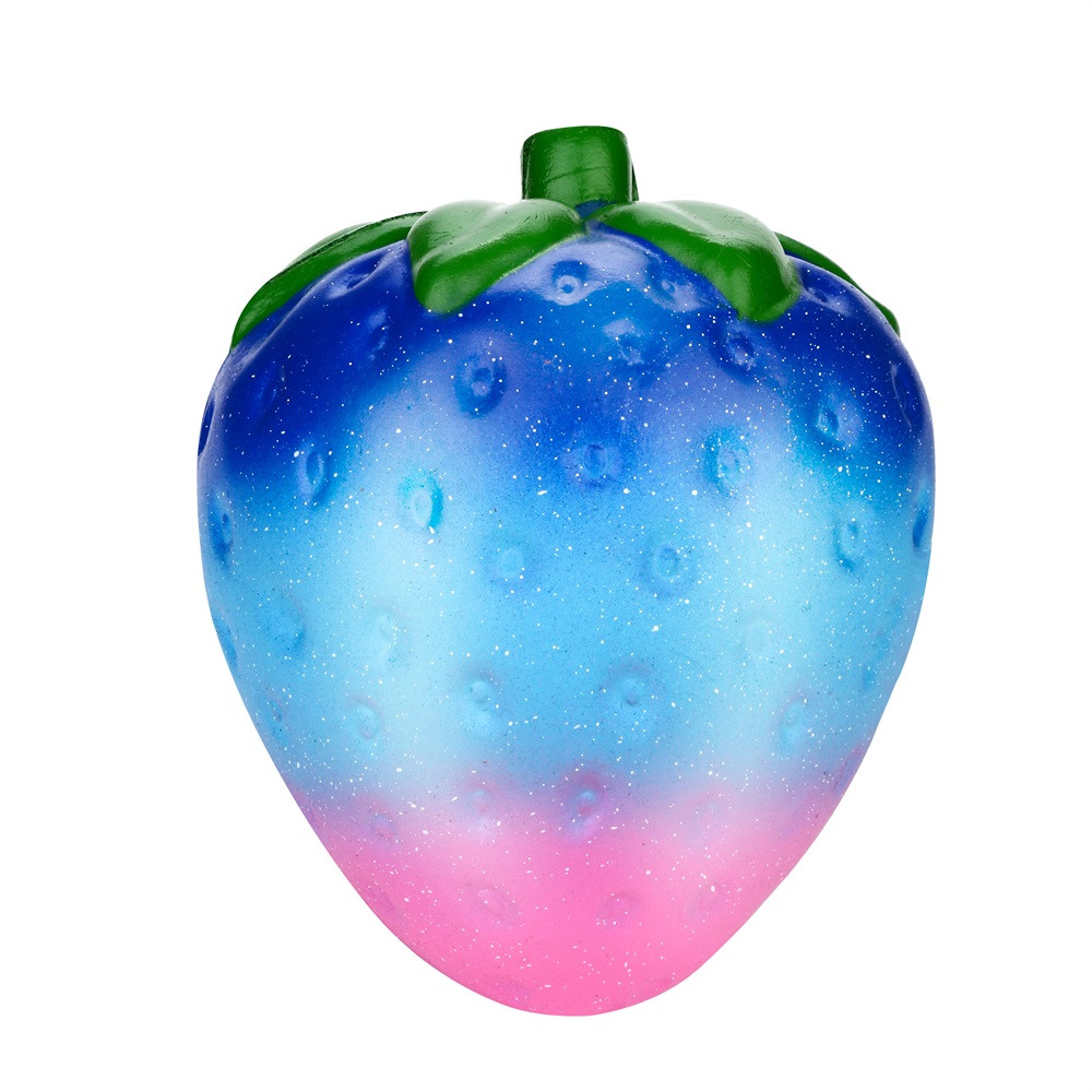 Fidget-Toys Squeeze-Toy Charm Jumbo Scented Squishy Stress Slow Rising Strawberry Galaxy