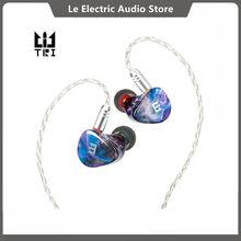 TRI Starsea – écouteurs intra-auriculaires hybrides 2BA + 1DD, casque d'écoute HIFI DJ en métal avec boutons à bascule pour les Modes de rotation des douleurs