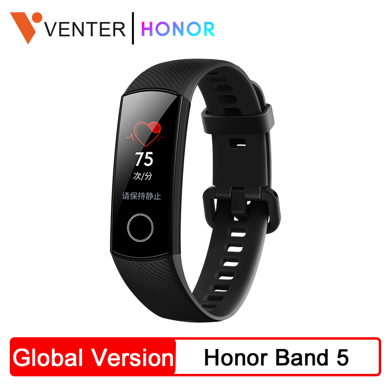 Original Honor Band 5 Band5 Fitness Tracker Colorful Screen Heart Rate Blood Oxygen Detect Sleep Monitor Swimming Track