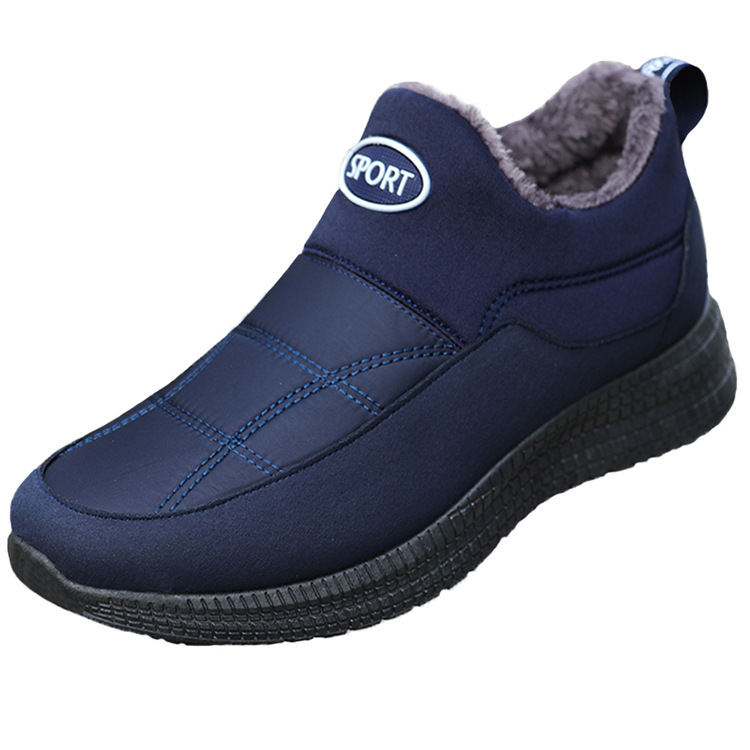 Winter Boots Working-Shoes Safety-Shoes Plush-Furry Mans Fashion Foot-Gb6 Warm Male Men