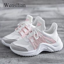 Summer Sneakers Women Trainers Vulcanize Shoes Mesh Tenis Feminino White Platfor