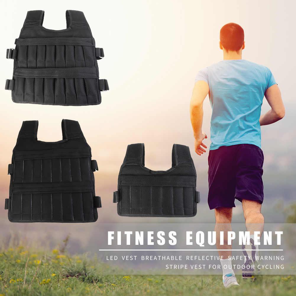 3/20/50Kg Laden Gewogen Vest Jas Belasting Gewicht Vest Oefening Voor Boksen Training Fitnessapparatuur Running Sport Apparatuur