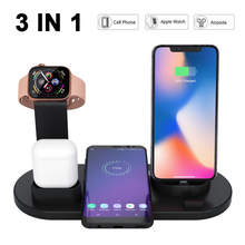 Wireless Charger 3-in-1 Wireless Charging Base for Apple Watch and Airpods Universal Compatibility iPhone X/XS/XR/Xs Max/8/8Plus