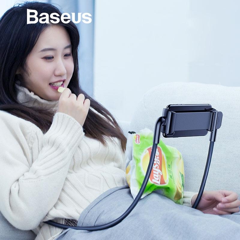 Baseus Flexible Lazy Phone Holder For Desktop Bed Tablet 360 Degree Rotation Adjustable Mobile Phone Holder Stand Bracket