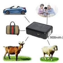 שמש GPS Tracker כוח כבשים בקר פרה RF V34 9000mAh עמיד למים GSM GPS WiFi מעקב קול ניטור אנטי להסיר SOS מעורר