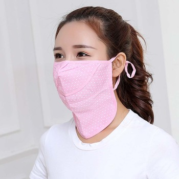 1 Pcs Multi Functional Mouth Face Mask Breathable Ice Silk Sunscreen Cap Scarf Outdoor Summer Accessories Face Cover