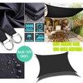Черный 300D Водонепроницаемый квадратный фотопарус, садовая терраса, навес, солнцезащитный козырек для плавания, кемпинга, пешего туризма, дв...