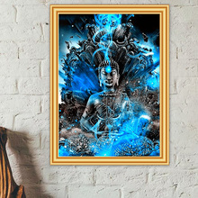 DIY 5D Diamond Painting Buddha Religion Cross Stitch Full Square Round Diamond Embroidery Portrait Zen Craft Mosaic Picture Gift 5d diamond painting religion buddha flower cross stitch diy full square or round diamond embroidery picture home decoration gift