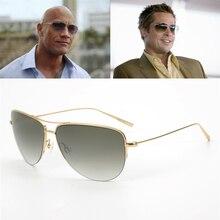 Оливер супер светильник 12g Strummer солнцезащитные очки из чистого титана оправа с градиентными линзами Пилот солнцезащитные очки мужские унисекс OV1004S солнцезащитные очки