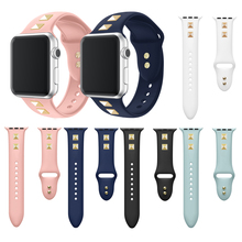 38/42mm Replacement Strap Soft Silicone Sport Band for Apple