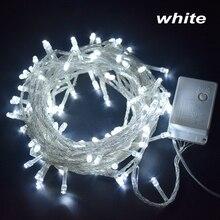 220 В наружный Рождественский струнный светильник s гирлянда 10 м 20 м 30 м 50 м 100 м водонепроницаемый светодиодный Сказочный светильник для свадебной вечеринки Рождественский праздничный светильник