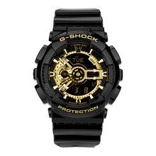 Часы Casio спортивные электронные кварцевые часы водонепроницаемые мужские часы черные золотые часы GA-110GB-1A