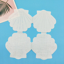 20pcs Foil Silver Shell Paper Napkins For Birthday Wedding Engagement Valentine Baby Shower Party Supply Napkin Serviettes