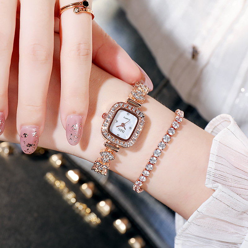 de quartzo casual simples temperamento pulseira relógio