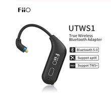 FiiO UTWS1 Bluetooth V5.0 aptX/tws + אוזניות וו MMCX/0.78mm Bluetooth מודול עם מיקרופון תמיכה/ 8h עבור Shure/FiiO/Westone