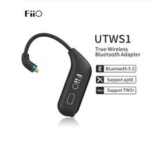 FiiO UTWS1 V5.0 Bluetooth aptX/tws + auriculares gancho MMCX/0,78mm módulo Bluetooth con soporte de micrófono/8 h para Shure/FiiO/Weston