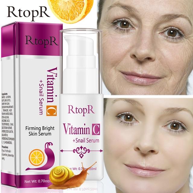 Sérum à lacide hyaluronique vitamine c Anti vieillissement, rétrécit les pores, hydrate, contrôle du visage, huile, produit de soins pour la peau