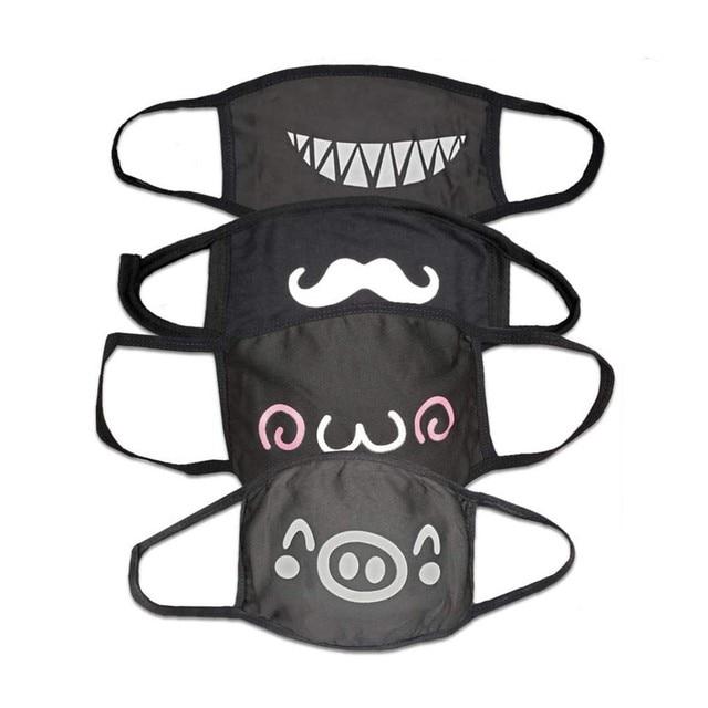 4PCS Korean Cute Anime Anti-dust Mask Cotton Face Mask Cartoon Mask PM2.5 Reusable Washable Fashion Kawaii Muffle Mask Cover 1