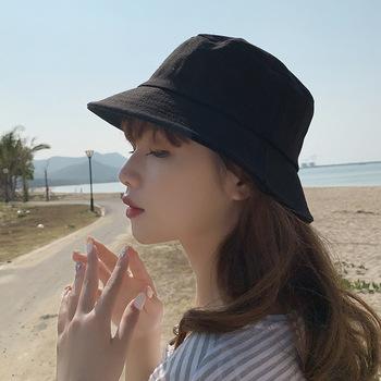 Dziecięcy basen boczny wypoczynek kapelusz przeciwsłoneczny koreański moda wygodny czysty kolor kapelusz rybaka miłośnicy wypoczynek na świeżym powietrzu kapelusz przeciwsłoneczny (S L) tanie i dobre opinie CN (pochodzenie) 51-54CM Other