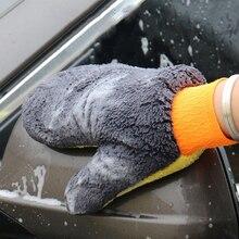 1 adet yeni teknoloji polimer araba yıkama kil havlu/araba detaylandırma kil bez/sihirli kil mikrofiber havlu eldiveni eldiven araba aksesuarları