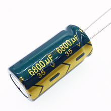 Condensateur électrolytique en aluminium 35v 6800UF, taille 18x35, 6800UF35V 20%, 1 pièce/lot