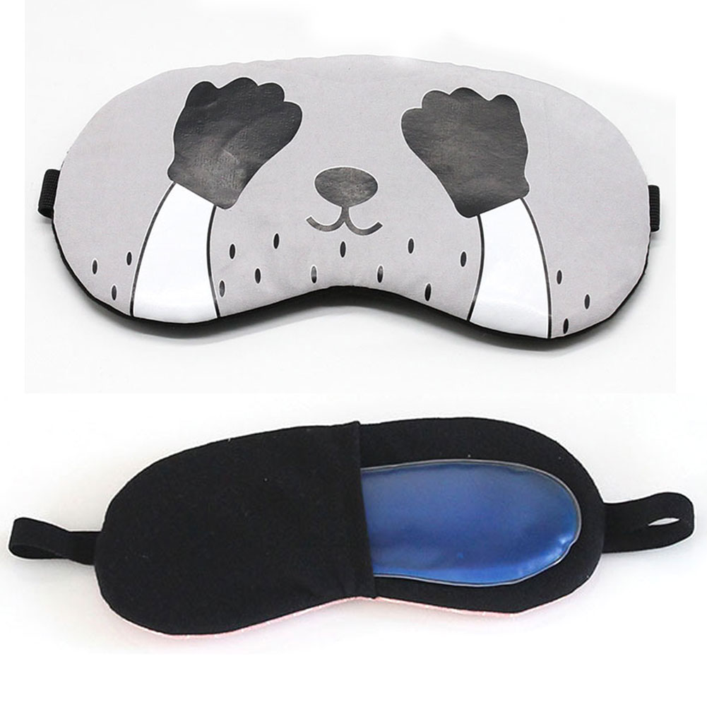 Eyepatch Blindfolds Home Cold Relaxing Ice Gel Travel Cartoon Eye Mask Comfort Cover Sleeping Aid Gifts Shade School Office