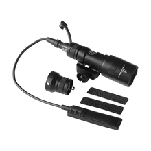 M300B Mini Scout Light Tactical Rail Light  Rifle Hunting 400 lumen Flashlight Constant/Momentary Output for 20mm Picatinny Rail tactical sky airsoft m300b mini scout weaponlight bk