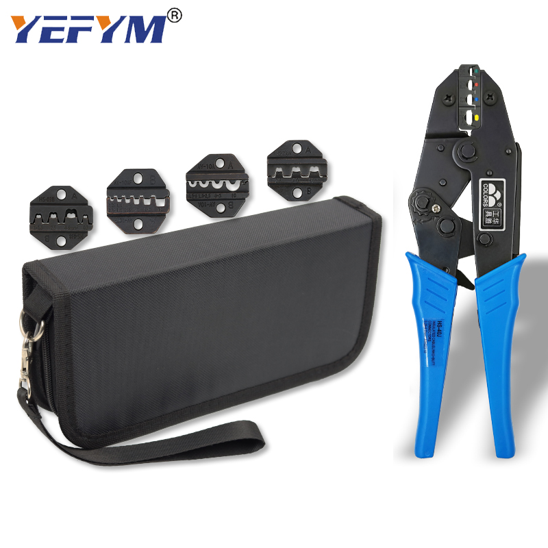 Kit multifunctional ratchet crimping tool professional 0 5-35mm2 wire crimping pliers HS-30J 40J 03BC 10A 10WF electrician tools