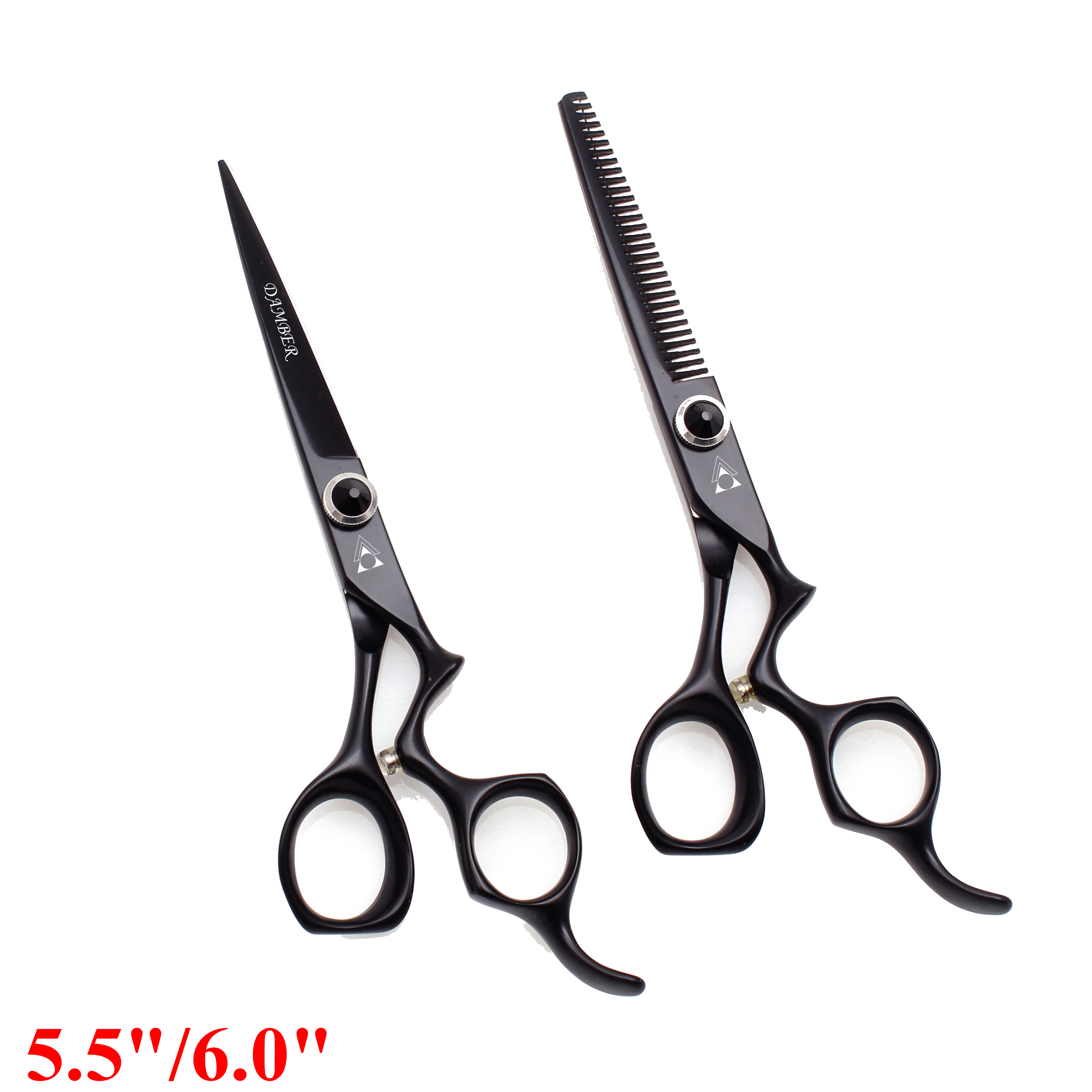 5.5 6.0 Hair Cutting Thinning Scissors Professional High Quality Barber Scissors Hairdressing Scissors 440c Japanese Steel 9016#