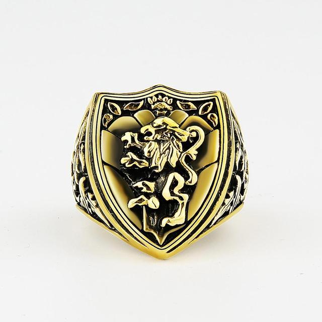 Bague lion royale