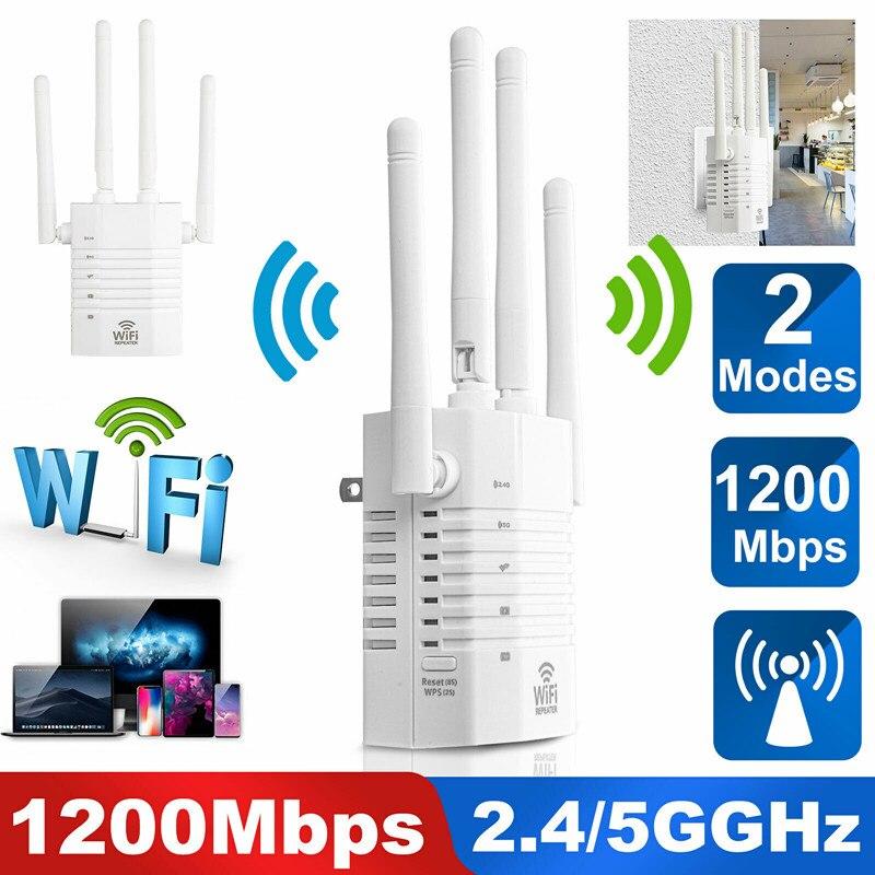 1200 Мбит/с двухдиапазонный Wi-D внутристенный AP WiFi расширитель диапазона Беспроводной повторитель усилитель сигнала маршрутизатор 2,4G Wi-Fi 5 ГГ...