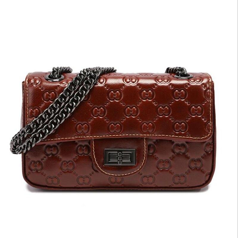 2019 new genuine leather bag for women, cowhide handbag, luxury shoulder women