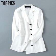 white jacket women button blazer 2020 spring summer ladies suit