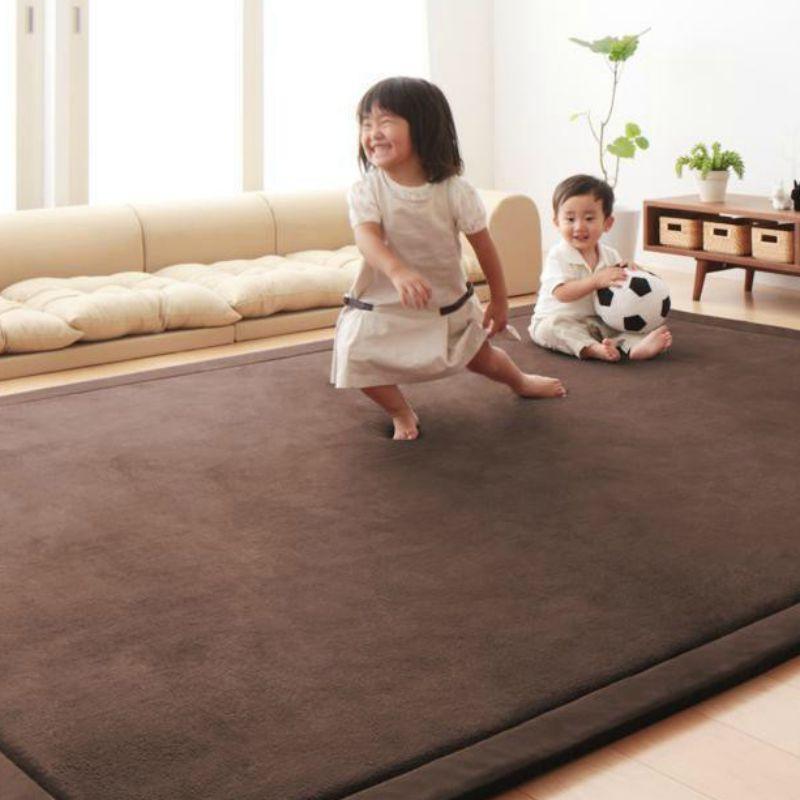 2CM épais tapis de jeu bébé enfant ramper bambin ramper tatami tapis coussin enfants en peluche velours couverture tapis pour chambre