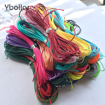 1mm 4 Meters Waxed Cotton Cord Beading Waxed String Rope for Jewelry Making Bracelet Necklace DIY Macrame Thread image