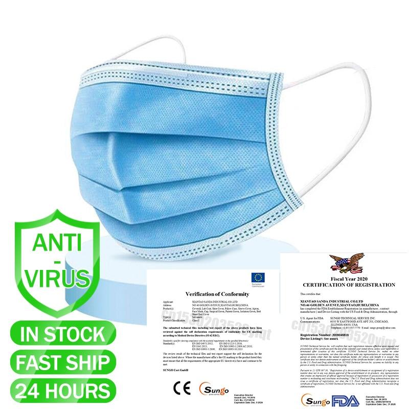 €4.66 50% СКИДКА|50/100/200 шт хирургическая одноразовая медицинская маска для лица анти фильтр вирусов 3 слоя эластичные ушные петли маски для рта медицинские|  - AliExpress