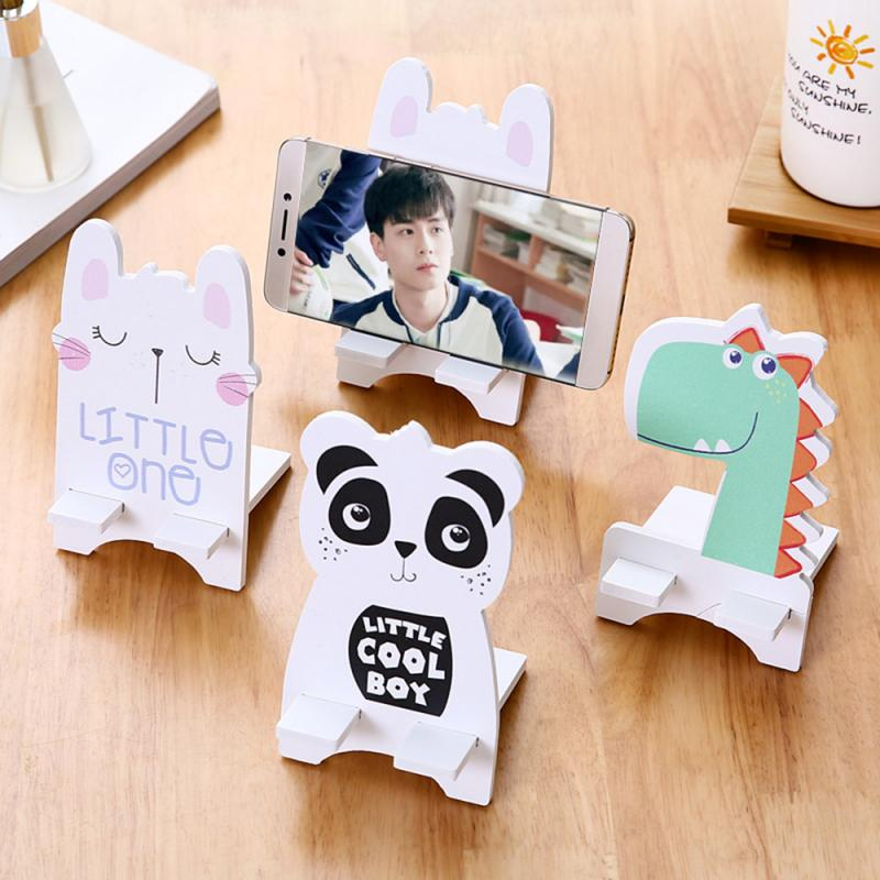 Lazy Cartoon Bracket Wooden LightWeight Cute Rabbit Panda Dinosaurs Animal Cellphone Tablet Desktop Holder Stand For Iphone Ipad
