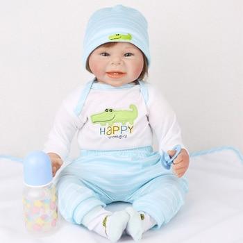 NPK 22 Inch 55cm Soft Silicone Handmade Reborn Baby Girl Dolls Realistic Looking Newborn Baby Doll Toddler Cute Birthday Gift