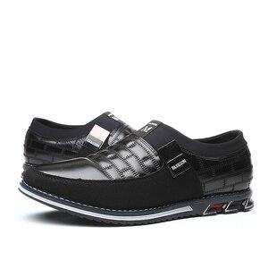 Image 2 - עור גברים נעליים יומיומיות 2019 מותג Mens ופרס מוקסינים לנשימה להחליק על שחור נהיגה נעלי גדול גודל