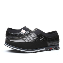 Leather Men Casual Shoes 2019 Brand Mens Loafers Moccasins Breathable Slip on Black Driving Shoes Big Size