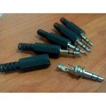 5 шт.% 2 флота черный пластик LX1 корпус 3,5 мм аудио разъем штекер наушники разъем скидка бесплатно доставка Россия