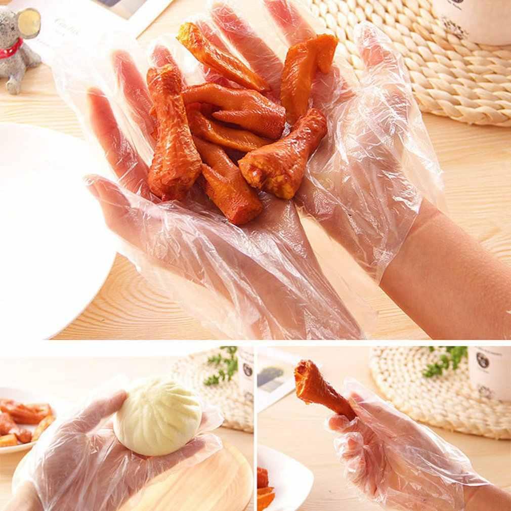 Esszimmer Einweg Handschuhe 50/100 Pcs Transparent Verdickung Schönheit Hausarbeit Reinigung Handschuhe Küche Haus Esstisch Zubehör