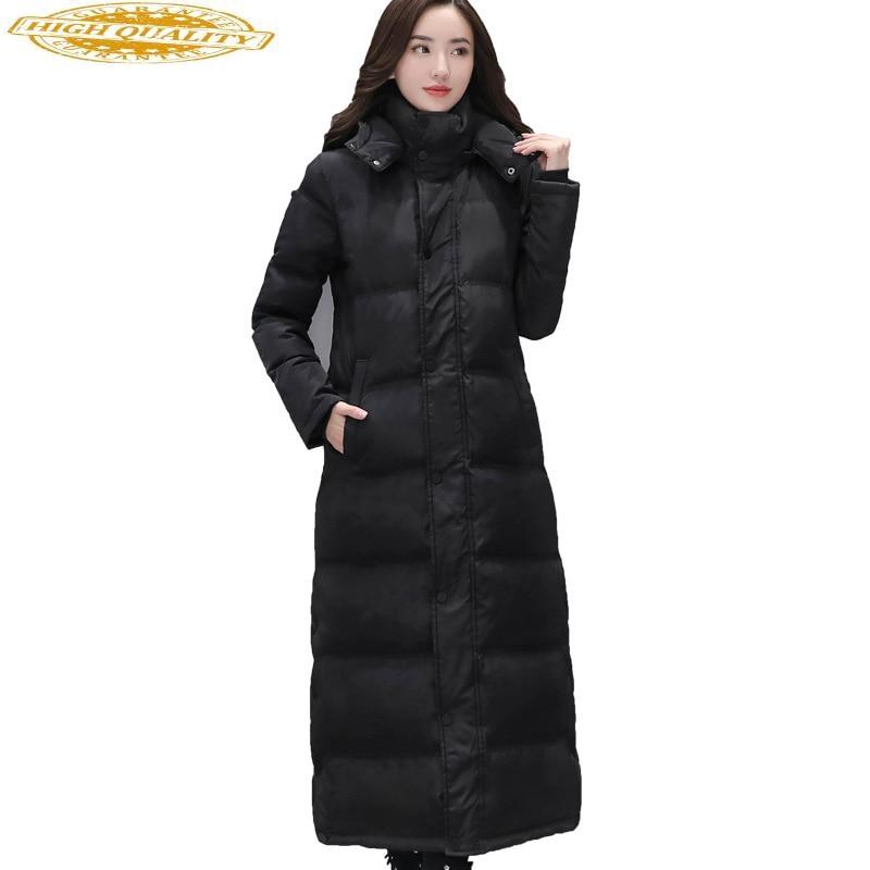 2020 Duck Down Jacket Women Long Winter Coat Korean Thick Puffer Down Coats Female Jacket Casacas Para Mujer KJ2819