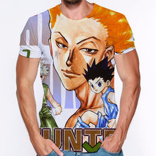3d print t shirts anime hunter x o neck hip hop short sleeve