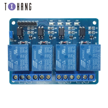 цена на 5V 4-Channel Relay Module Shield for Arduino ARM PIC AVR DSP Electronic 5V 4 Channel Relay.4 road 5V Relay Module WAVGAT