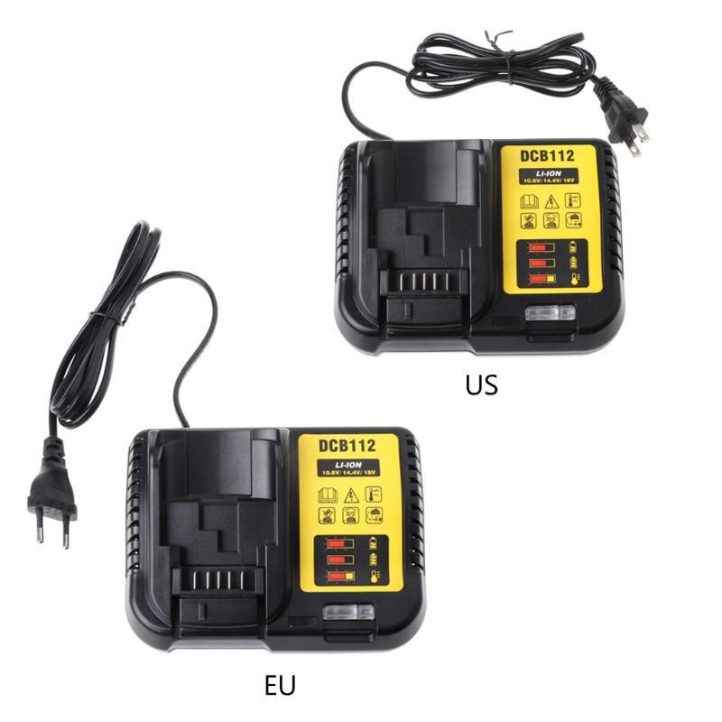 Dcb112 Li-Ion Батарея Зарядное устройство для Dewalt 10,8 V 12V 14,4 V 18V Dcb101 Dcb200 Dcb140 Dcb105 Dcb200 черный