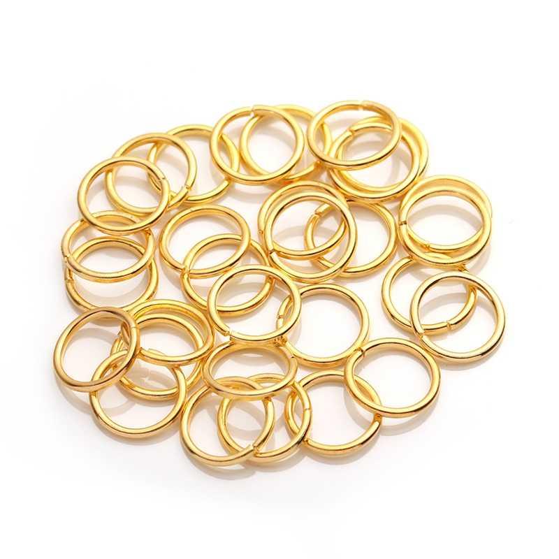 XINYAO 200 teile/beutel 4 6 8 10mm Metall Biegeringe Silber/Gold/Bronze Farbe Split Ringe Connectors für Diy Schmucksachen Machen