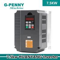 CNC Router machine 380v 220v 7.5kw VFD Variable Frequency Driver CNC spindle vector Inverter 3 phase motor pump controller !